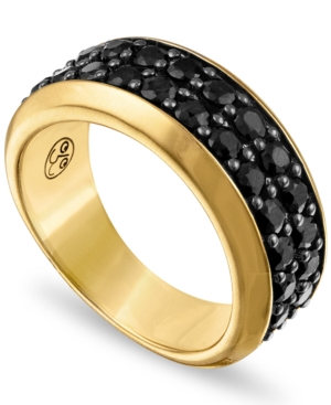 Black Sapphire Band (3 ct. t.w.) in 14k Gold-Plated Sterling Silver
