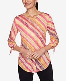 Plus Size Knit Watercolor Top