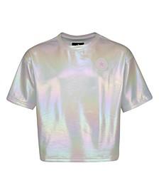 Big Girls Dry Rainbow Chuck Patch Logo T-shirt