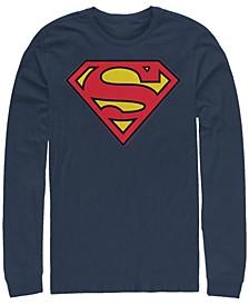 Men's Superman Classic Logo Long Sleeve Crew T-shirt