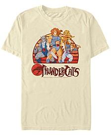 Men's Thundercats Group Retro Sunset Short Sleeve T-shirt
