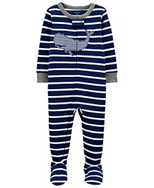 Baby Boys Whale Footie Pajamas