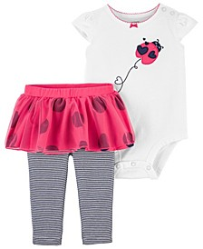 Baby Girls Ladybug Bodysuit and Pant Set, 2 Pieces