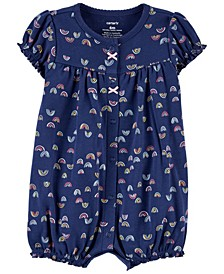 Baby Girls Rainbow Snap-Up Romper