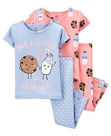 Baby Milk and Cookie 100% Snug Fit Cotton Pajamas
