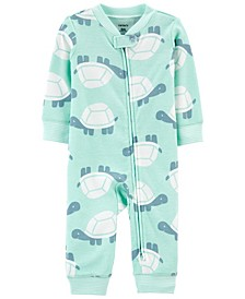 Baby Boys Turtle Footless Zip-Up Sleep and Play One Piece