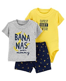 Baby Boy Banana Little Short Set