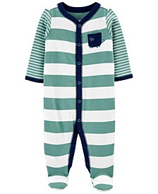 Baby Boys Striped Snap-Up Sleep and Play One Piece
