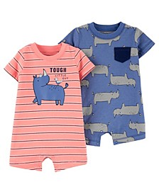 Baby Boy Cotton Rompers Set