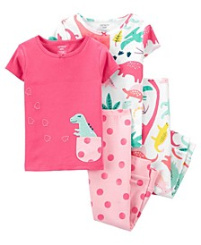 Baby Girls Dinosaur Pajama Set, 3 Pieces