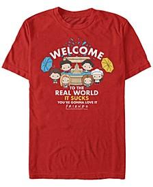 Men's Friends Friends Fountain Squad Short Sleeve T-shirt