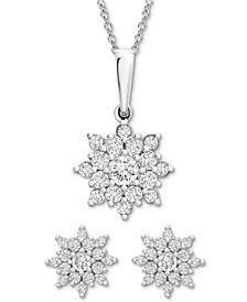 ™ Diamond Flower  Cluster Jewelry Collection, Created for Macy's