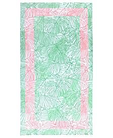 Tropical Monstera Velour Beach Towel, Created for Macy's