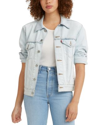 Women's Ex-Boyfriend Cotton Denim Trucker Jacket