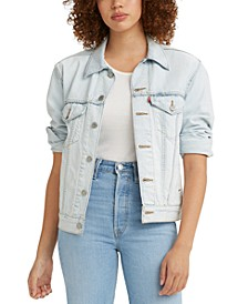 Women's Ex-Boyfriend Cotton Denim Trucker Jacket
