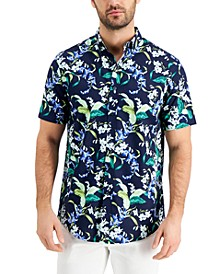 Men's Floral Print Short Sleeve Shirt, Created for Macy's