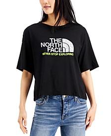 Women's Logo-Graphic Cropped T-Shirt
