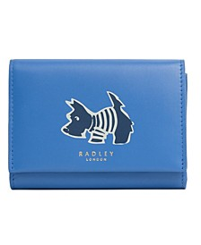 Stripey Dog Medium Leather Wallet