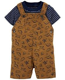 Baby Boys Dinosaur Tee and Shortall Set, 2 Pieces