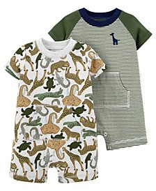 Baby Boys Snap-Up Rompers, Pack of 2