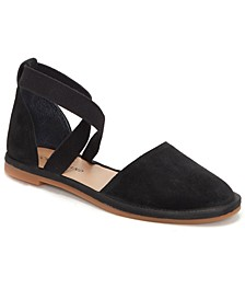 Women's Atlyi Elastic Ankle-Strap Flats