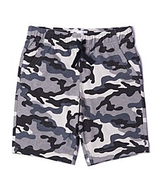 Toddler Boys Drawstring Camouflage Print Knit Shorts