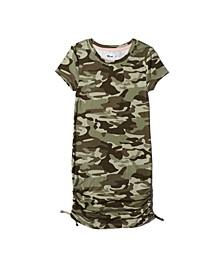 Big Girls Short Sleeve Side Ruched Dress