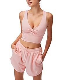 Women's So Peachy Twist Front Vestlette Top