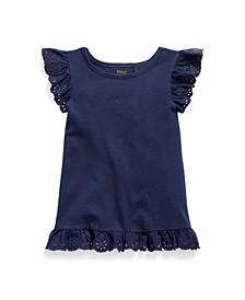 Little Girls Eyelet Jersey Top