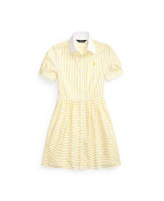 폴로 랄프로렌 Polo Ralph Lauren Big Girls Striped Shirtdress