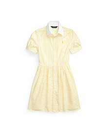 Big Girls Striped Shirtdress