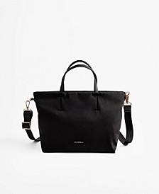 Women's Nylon Shopper Tote Bag