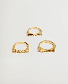 Women's Squared Ring Set