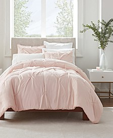 Simply Clean Antimicrobial Pleated King Comforter Set, 3 Piece