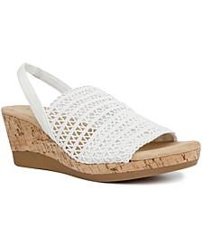 Meriamm Macrame Wedge Sandals, Created for Macy's