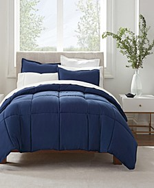 Simply Clean Antimicrobial Twin Extra Long Comforter Set, 2 Piece