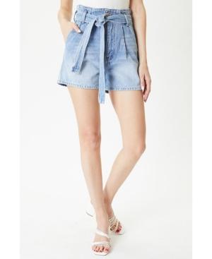 Women's High Rise Paperbag Shorts