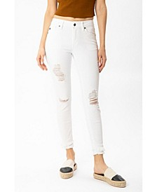 Women's Mid Rise Ankle Skinny Jeans
