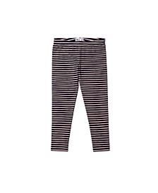 Toddler Girls Striped Knit Leggings