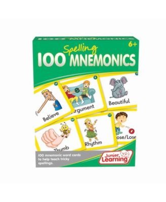 Junior Learning 100 Spelling Mnemonics Word Educational Activity Cards