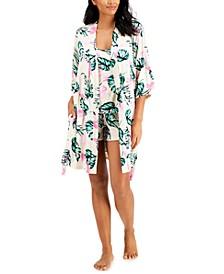 INC Wrap Robe, Cami & Shorts 3pc Pajama Set, Created for Macy's