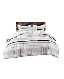 Nea 3 Piece Cotton Printed Duvet Cover Sets