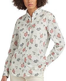 Bowland Printed Ruffled Shirt