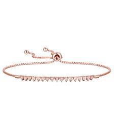 Diamond Bolo Bracelet (1/10 ct. t.w.) in Sterling Silver , 14k Gold-Plated Sterling Silver or 14k Rose Gold-Plated Sterling Silver