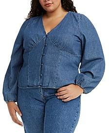 Trendy Plus Size Cotton Sophia Top