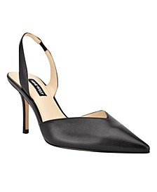 Women's Hello Pointed Toe Slingback Pumps