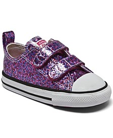 Toddler Girls Coated Glitter Easy-On Chuck Taylor All Star Casual Sneakers from Finish Line
