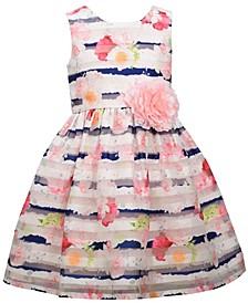 Toddler Girls Sleeveless Burnout Organza Party Dress
