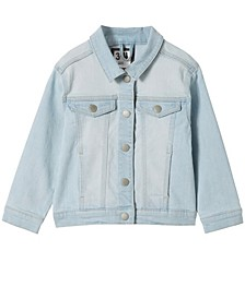 Little Girls Daisy Denim Jacket