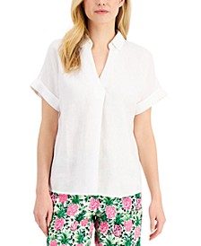 Linen Top, Created for Macy's